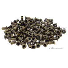 2.5mm (1mm Hole Size ) Tiny Bronze Brass Eyelets For DIY Doll Clothes Sewing Craft Scrapbooking 100pcs