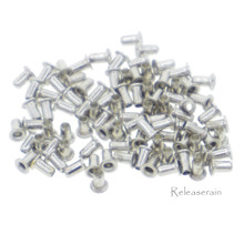 2.5mm (1mm Hole Size) Tiny Silver Brass Eyelets For DIY Doll Clothes Sewing Craft Scrapbooking 100pcs