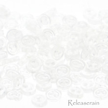 Releaserain 3mm Clear Transparent Tiny Round Doll Clothes Sewing Plastic Buttons with Rim Set of 50
