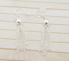 Releaserain Artist Handcrafted Jewelry S925 Sterling Silver Tassel Dangle Earrings