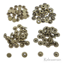 6mm Bronze Brass S-Spring Press Studs Popper Snap Fasteners 30 Sets For DIY Doll Clothes