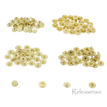 6mm Gold Brass S-Spring Press Studs Popper Snap Fasteners 30 Sets For DIY Doll Clothes