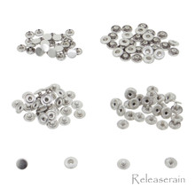 6mm Silver Brass S-Spring Press Studs Popper Snap Fasteners 30 Sets For DIY Doll Clothes