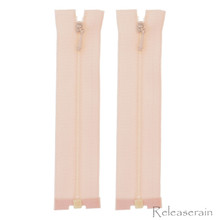 "4"" Tiny Separating DIY Doll Clothes Jacket Nylon Coil Size #0 Open End Sewing Zippers Fresh Pink Set of 2 Pieces"