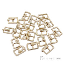 Outer 10×6.5mm Inner Diameter 4mm DIY Doll Clothes Sewing Plated Metal Belt Buckles Gold 20pcs