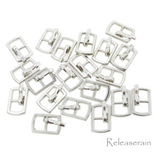 Outer 10×6.5mm Inner Diameter 4mm DIY Doll Clothes Sewing Plated Metal Belt Buckles Silver 20pcs