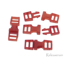 Outer 6x16mm Inner Diameter 4mm DIY Doll Clothes Sewing Plastic Side Release Buckles Red 20pcs