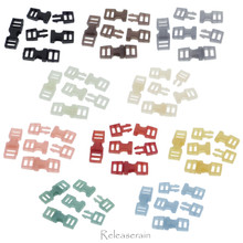 6x16mm Inner Diameter 4mm DIY Doll Clothes Sewing Plastic Side Release Buckles 10 Colors 2 Pieces Each Color (Total 20 Pieces)