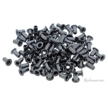 2.5mm (1mm Hole Size ) Tiny Charcoal Brass Eyelets For DIY Doll Clothes Sewing Craft Scrapbooking 100pcs