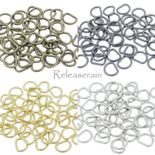4mm Inner Diameter DIY Doll Clothes Sewing Metal Miniature D Ring Tiny Buckles 4 Colors Each Color 20 Pieces (Total 80 Pieces)