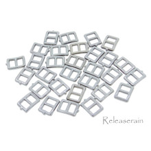 5x6mm Inner 3mm DIY Doll Clothes Sewing Charcoal Metal Rectangle Claw Belt Buckles 30pcs