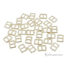 5x6mm Inner 3mm DIY Doll Clothes Sewing Gold Metal Rectangle Claw Belt Buckles 30pcs