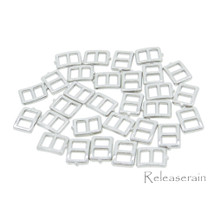 5x6mm Inner 3mm DIY Doll Clothes Sewing Silver Metal Rectangle Claw Belt Buckles 30pcs