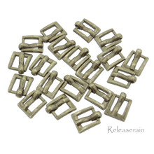 7x8mm Inner 4mm DIY Doll Clothes Bronze Sewing Metal Rectangle Heel Bar Buckles 20pcs