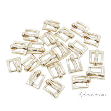 7x8mm Inner 4mm DIY Doll Clothes Gold Sewing Metal Rectangle Heel Bar Buckles 20pcs