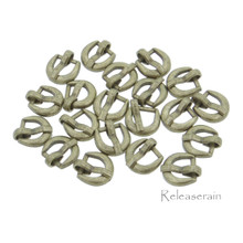 7x7mm Inner 4mm DIY Doll Clothes Bronze Sewing Metal D Shaped Heel Bar Buckles 20pcs