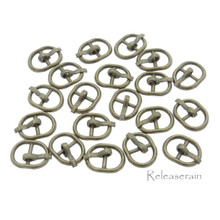 8×10.5mm Inner Dia 5.5mm DIY Doll Clothes Bronze Sewing Metal Oval Belt Buckles 20pcs