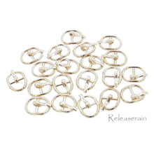 8×10.5mm Inner Dia 5.5mm DIY Doll Clothes Gold Sewing Metal Oval Belt Buckles 20pcs