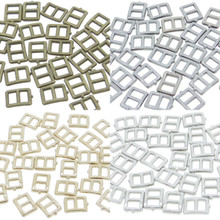 5x6mm Inner 3mm DIY Doll Clothes Sewing Metal Rectangle Claw Belt Buckles 4 Colors Each Color 10pcs Total 40pcs