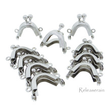 3.2cm Purse Frame Mini Metal Kiss Lock Clasp Silver 10pcs For DIY Craft 1/6 Scale Doll Bags