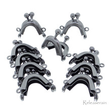 3.2cm Purse Frame Mini Metal Kiss Lock Clasp Charcoal 10pcs For DIY Craft 1/6 Scale Doll Bags