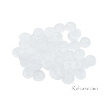Releaserain 4mm Clear Transparent Tiny Round Doll Clothes Sewing Plastic  Buttons with Rim Set of 50