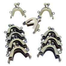 3.2cm Purse Frame Mini Metal Kiss Lock Clasp Bronze 10pcs For DIY Craft 1/6 Scale Doll Bags