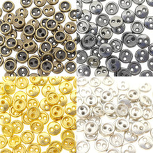 5mm Round Doll Clothes Sewing Sew On Plated Metal Miniature Buttons with Rim 4 Colors Each Color 15pcs Total 60 Pieces