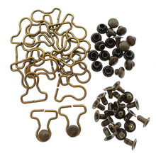7mm Overall Buckle 3mm Mushroom Rivet Bronze 20 Sets For DIY 1/8 and 1/12 Scale BJD Doll Clothes