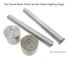 Die Punch Hand Tools Set For 8mm S-Spring Snap Fasteners