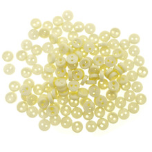 Releaserain 3mm Beige Tiny Round Doll Clothes Sewing Plastic Buttons with Rim Set of 50