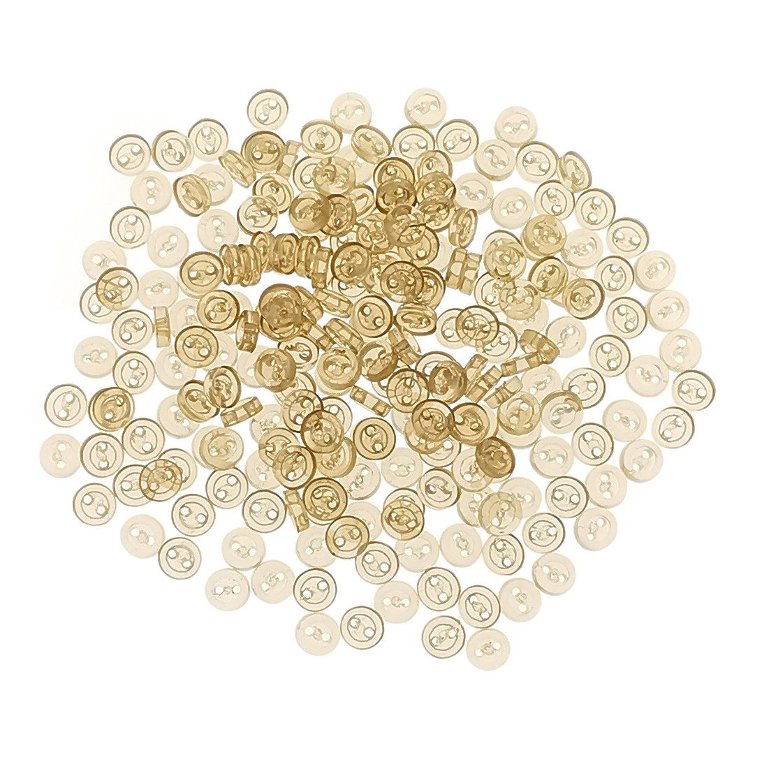 RA-100pcs 4mm Tiny Round Buttons for BabyBabydoll Clothing