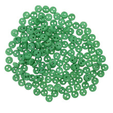 Releaserain 3mm Green Tiny Round Doll Clothes Sewing Plastic Buttons with Rim Set of 50