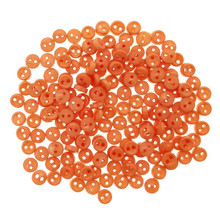 Releaserain 3mm Orange Tiny Round Doll Clothes Sewing Plastic Buttons with Rim Set of 50
