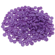 Releaserain 3mm Purple Tiny Round Doll Clothes Sewing Plastic Buttons with Rim Set of 50