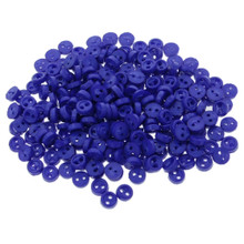 Releaserain 3mm Royal Blue Tiny Round Doll Clothes Sewing Plastic Buttons with Rim Set of 50