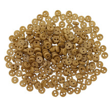 Releaserain 3mm Tea Brown Tiny Round Doll Clothes Sewing Plastic Buttons with Rim Set of 50