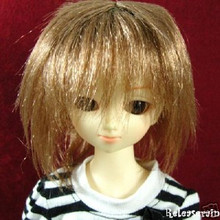 Milk Brown Layer Wild 7-8 Wig for MSD BJD Dollfie Ellowyne Wilde Dolls