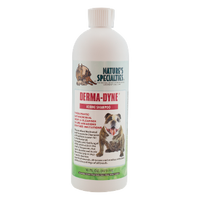 Derma-dyne is a therapeutic antimicrobial gentle cleanser calms abrasions and soothes irritations.  This excellent medicated shampoo with Iodine is known for its antibacterial, antiseptic and anti-fungal ability which aids in the relief of Ringworm, Hot Spots, Eczema and Acute Seborrhea (oily and dry).