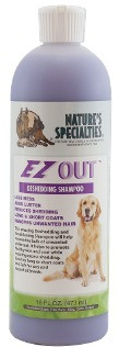 EZOUT Dog Shampoo is a gentle yet effective shampoo that works to reduce excessive shedding and removes unwanted loose hair that is prone to matting.