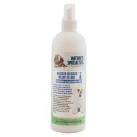 Nature's Specialties Quicker Slicker is a leave-in conditioner that can be used on dry or wet coats to de-mat a dog's fur and prevent further tangling.