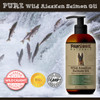 Pure Wild Alaskan Salmon Oil, wild caught from the fresh waters of Alaska and bottled in a USA manufacturing plant that is certified by the FDA as following Good Manufacturing Practices (GMP).