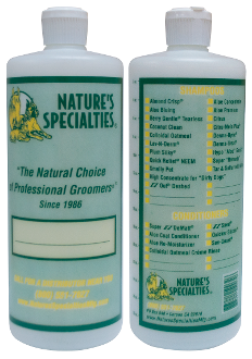 Shampoo mixing bottle 32 oz.  Easily add the correct quantity of shampoo to water by using the quantity marks on the side of the bottle.