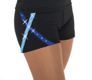 456 X-Bling Ice Skating Shorts Blue