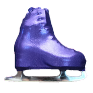 Metalic Figure Skating Boot Covers by Kami-So - Metallic Purple