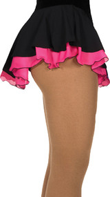 305 Jerry's Double Georgette Skirt - Black/Pink