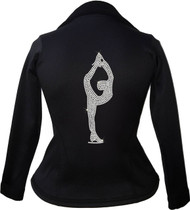 Kami-So Polartec Ice Skating Peplum Design Jacket - Biellmann spin