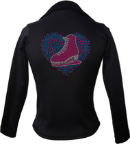 Kami-So Polartec Ice Skating Jacket - Love Skate Multi Blue 1