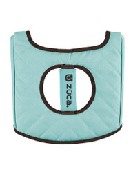 Zuca Seat Cover - Turquoise & Brown