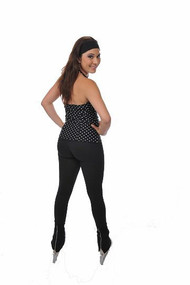 Savvy Skater Back Zip Cuff Figure Skating Pants